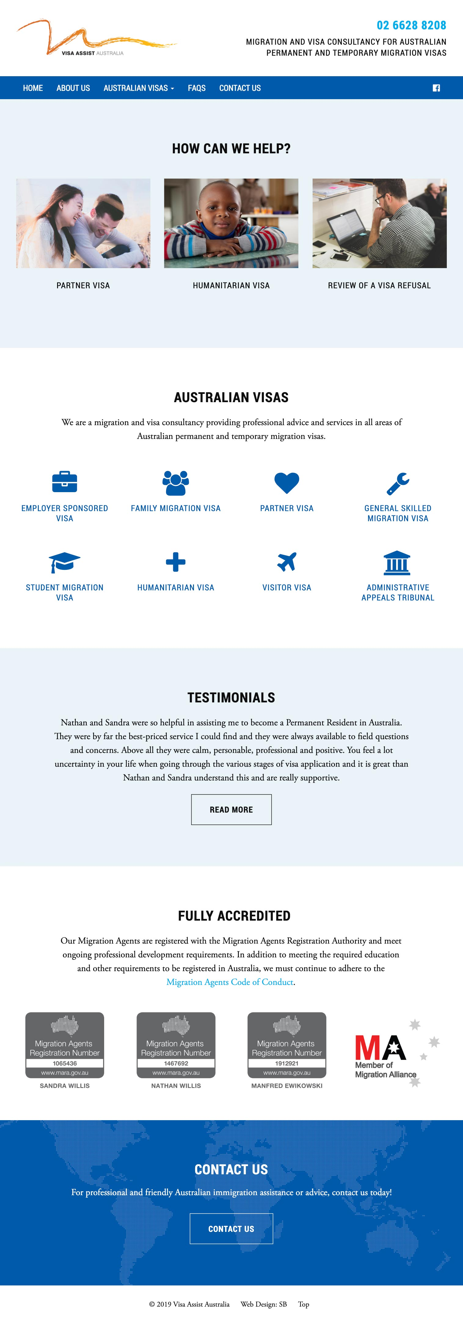 Web Design - Visa-Assist